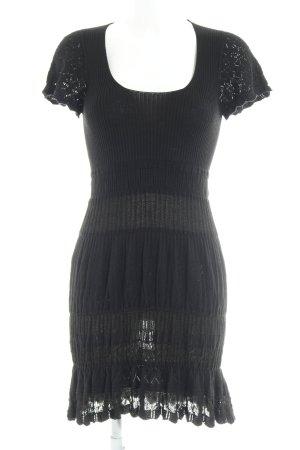Oasis Robe en maille tricotées noir motif tricoté lâche style décontracté