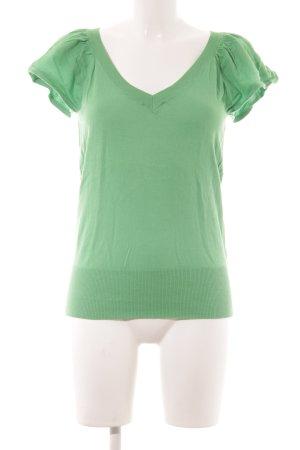 Oasis Strickshirt grün Casual-Look