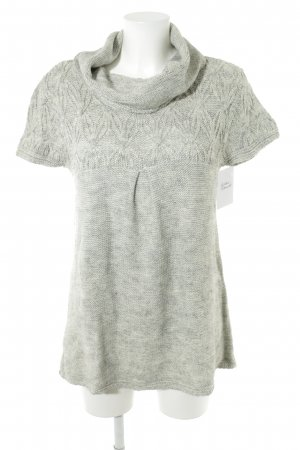 Oasis Camisa tejida gris claro moteado look casual