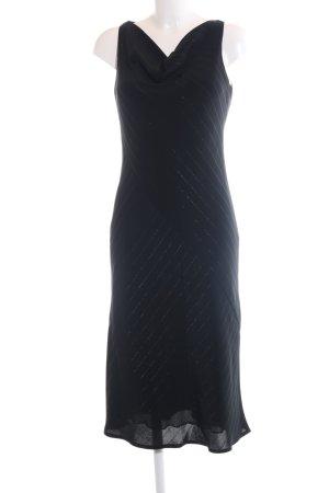 Oasis Trägerkleid schwarz Streifenmuster Elegant