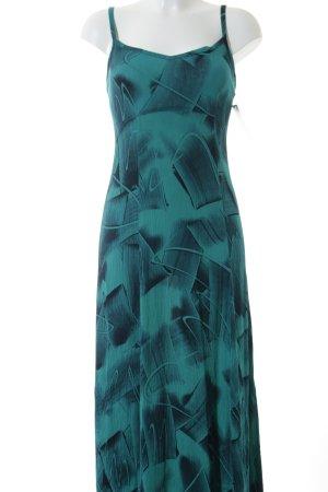 Oasis Trägerkleid petrol-schwarz abstraktes Muster Street-Fashion-Look