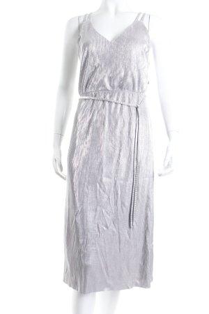 Oasis Trägerkleid silberfarben Metallic-Optik
