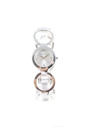 Oasis Uhr mit Metallband silberfarben extravaganter Stil