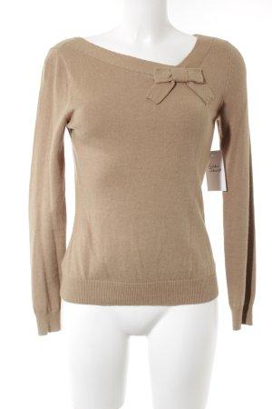 Oasis V-Ausschnitt-Pullover beige Casual-Look