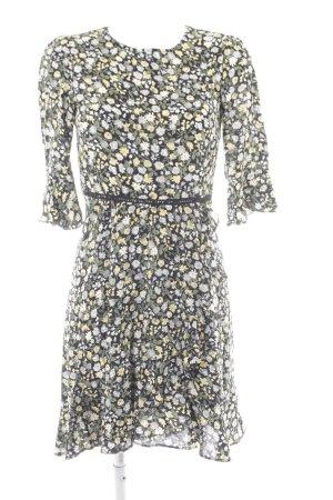 Oasis Volantkleid schwarz-gelb Blumenmuster Casual-Look