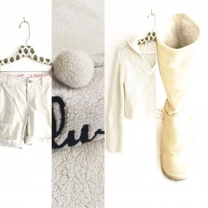 oatmeal farbene shorts / vintage / chinos / boho / edgy / casual