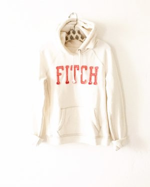 oatmeal farbener sweater / hoodie / abercrombie & fitch / creme / rosé