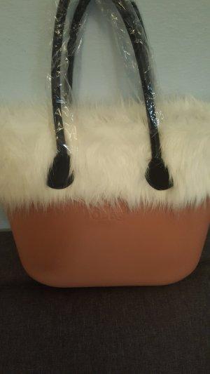 O bag Bolso rosa claro-beige Piel