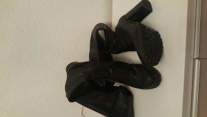 Oberknees Buffalo stiefel schwarz