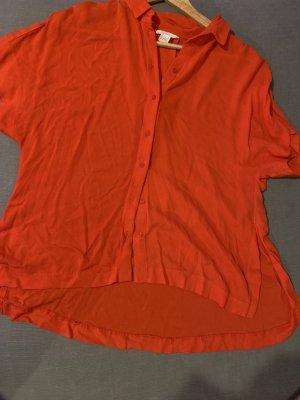 H&M Camisa de manga corta rojo