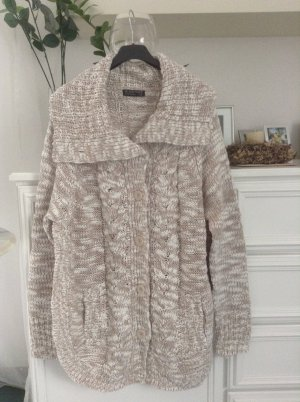 Blind Date Knitted Cardigan beige-white