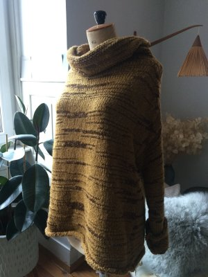 Obersized Pullover, Kupfer-Olive - tolle Farbkombination