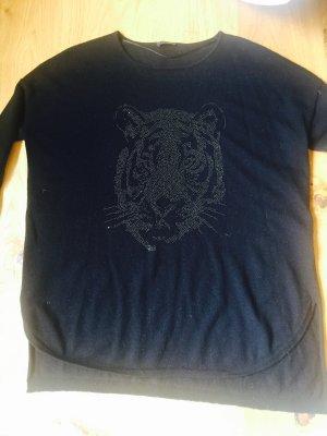 Obersized Pullover mit Tigerkopf
