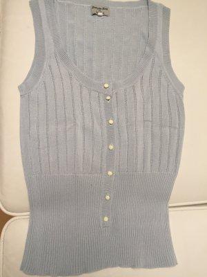 Noa Noa Haut tricotés bleu pâle coton