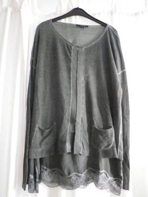 Comma Camisa tipo túnica gris antracita tejido mezclado