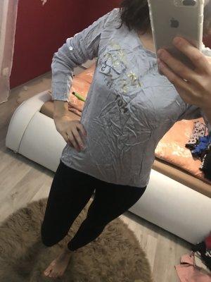 Camisa larga gris claro