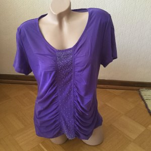 Blusa de manga corta violeta azulado