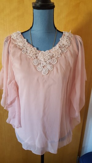 Cowl-Neck Shirt rose-gold-coloured