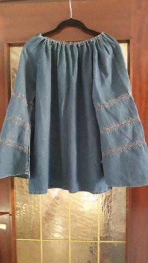 Spijkershirt blauw