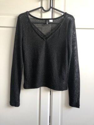 Jersey largo negro-color oro