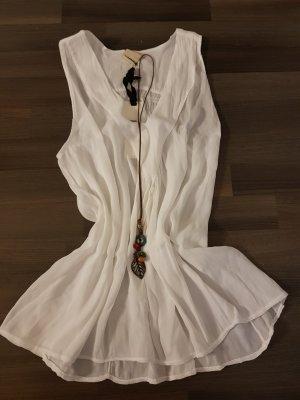Cowl-Neck Shirt white