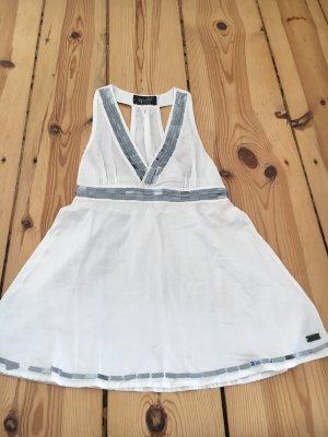 Bershka Backless Top white-silver-colored