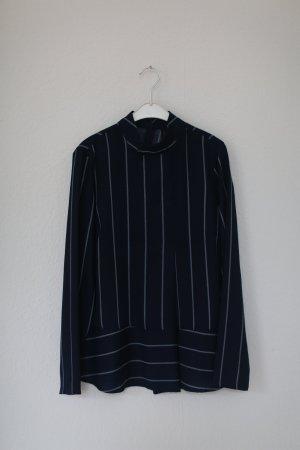 Oberteil Bluse mit Streifen dunkelblau YAS Gr. M Neu