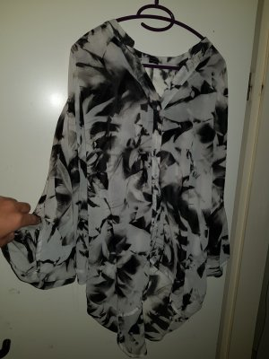 Vero Moda Oversized blouse wit-zwart