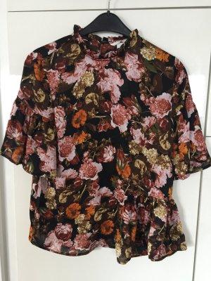 Oberteil Bluse Shirt H&m Blumen floral neu Rüschen