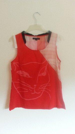 Oberteil Bluse von st - martins mit Katzenprint Gr. M
