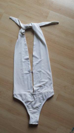 Elisabetta Franchi Haut dos-nu blanc tissu mixte