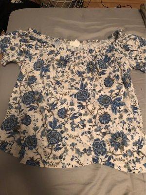 H&M Carmen shirt blauw