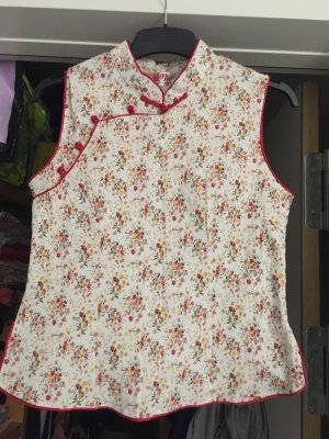 Oberteil Chinese Style S/M (rot)