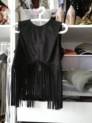 Zara Woman Camicia cropped nero