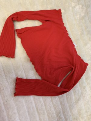 H&M Cropped shirt rood