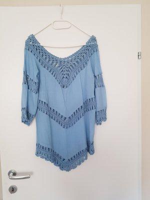 Colloseum Camisa tejida azul celeste