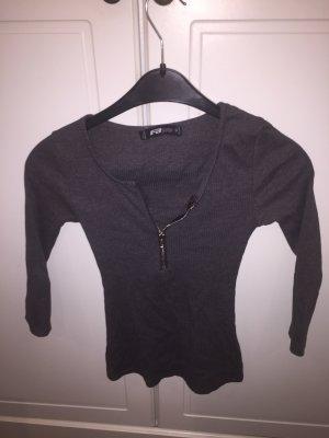 FB Sister Batik shirt zwart-zilver Synthetische vezel