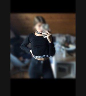 H&M Divided Sweatshirt zwart-wit