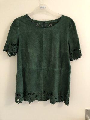 Boatneck Shirt dark green