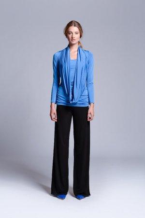 Slip-over blouse korenblauw Viscose