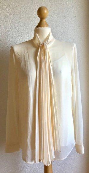 Michael Kors Blusa collo a cravatta bianco sporco-crema Poliestere