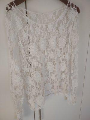 Crochet Shirt white
