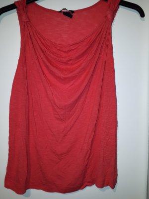 H&M Top collo ad anello rosso lampone