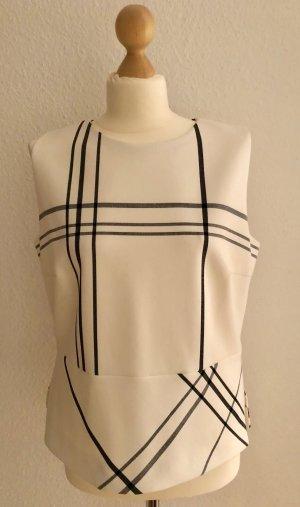 Hugo Boss Basic topje wit-zwart Polyester