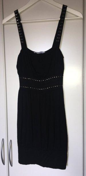 Oberteil/Kleid in schwarz mit Pailetten