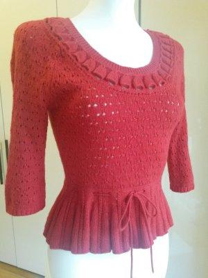 Oberteil mit hohen Angora-Anteil. Pullover in Rot