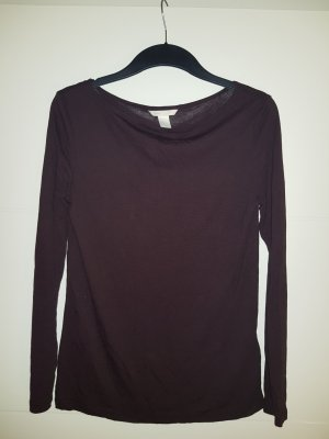 H&M Cowl-Neck Shirt blackberry-red