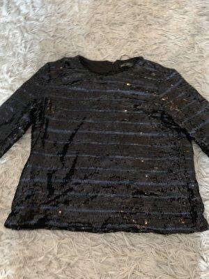 Zara Maglione nero-blu scuro