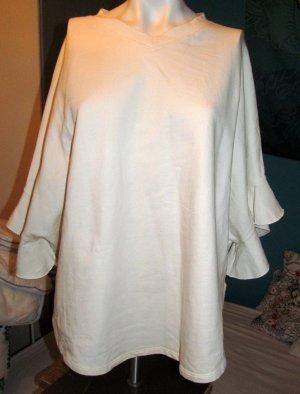Oversized shirt licht beige