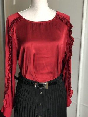Zara Top à volants rouge